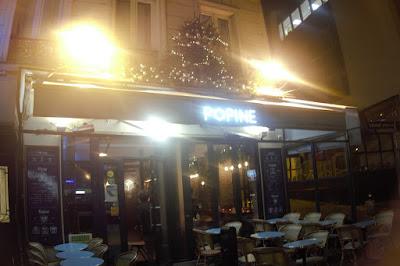 Entrée de la pizzéria Popine Paris 20 ème.
