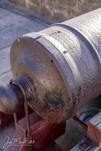 Canon de fer de 18 Mle 1778 fondu à Indret en 1785, n° 140