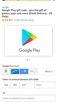 Google play recharge code