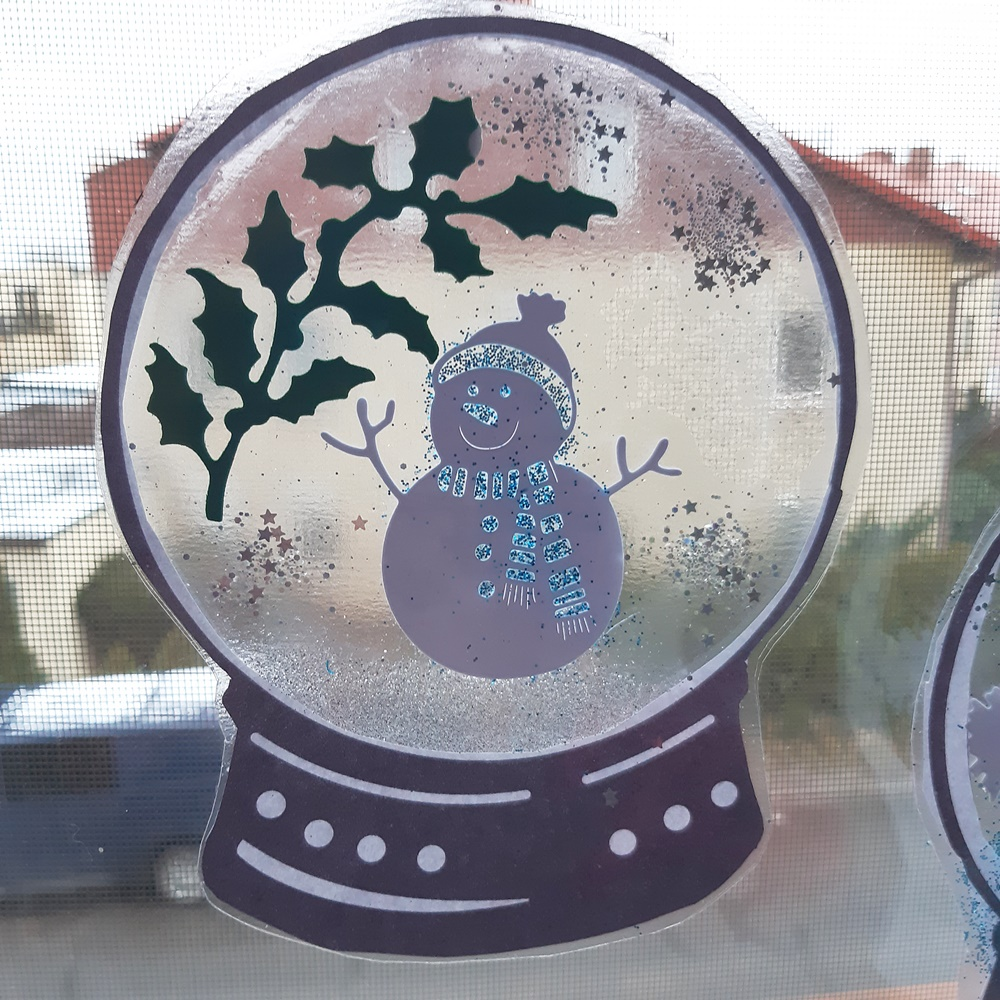 zimowy witraż bez laminatora