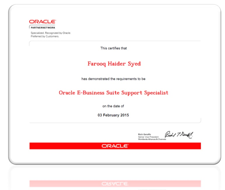 Oracle Certified Applications Specialist Functional My Oracle