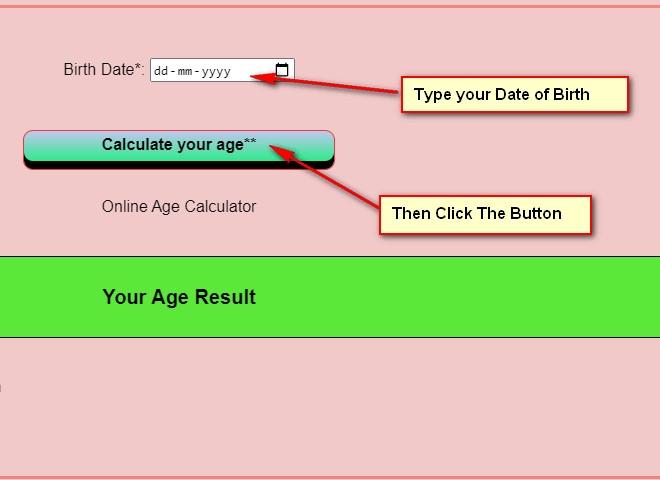 Date of birth calculator online, dob calculator, online age calculator, age calculator google, calculate my age, pearson age calculator, age counter, online age calculator