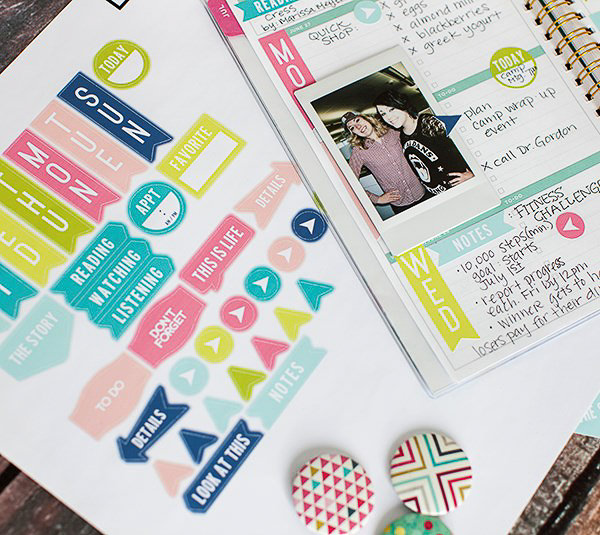 planner stickers made with cricut