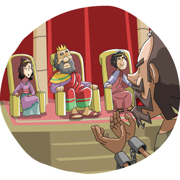 Today's Christian Clipart: Paul Before Agrippa