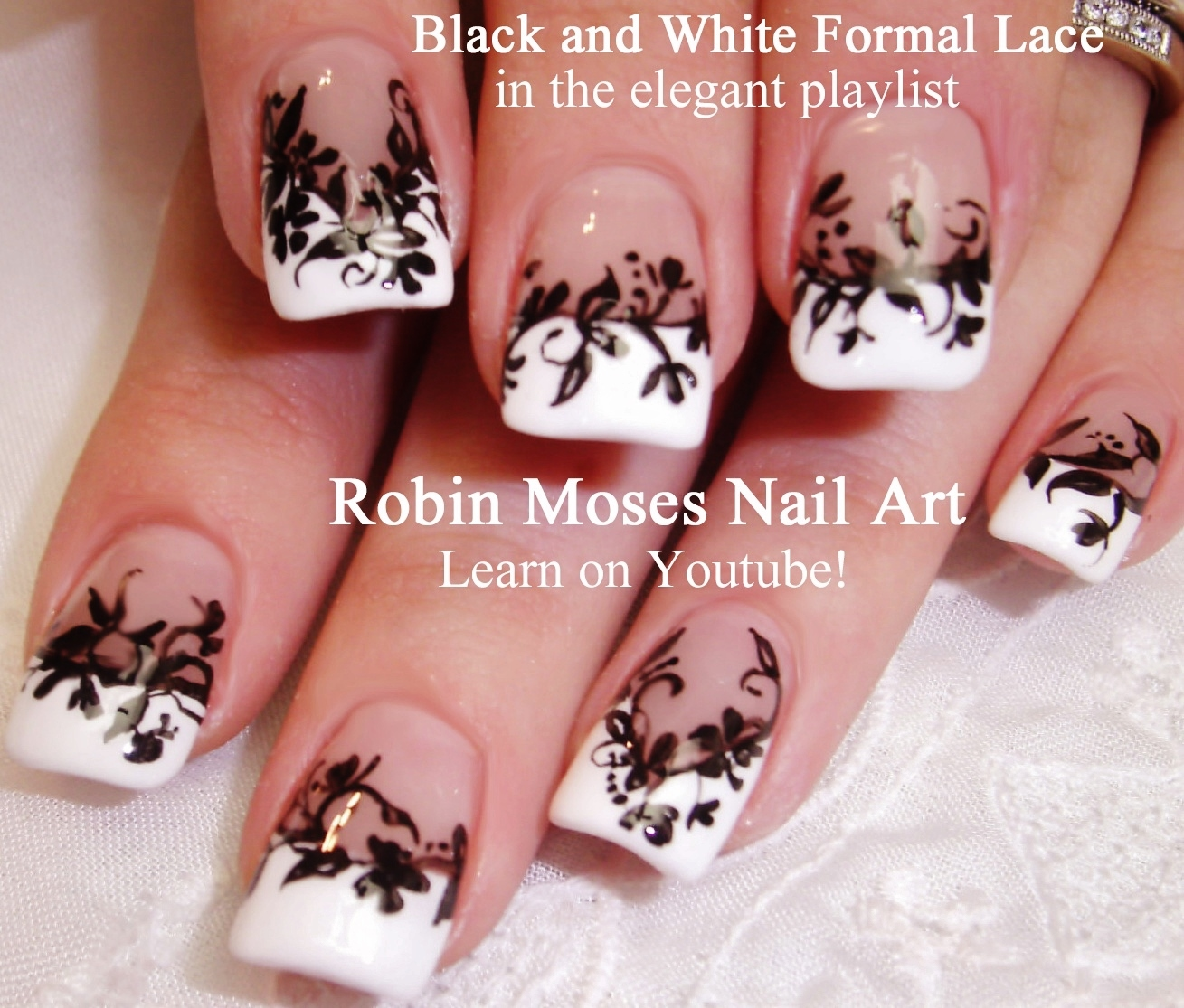 Robin Moses Nail Art Black And White Nail Art Design
