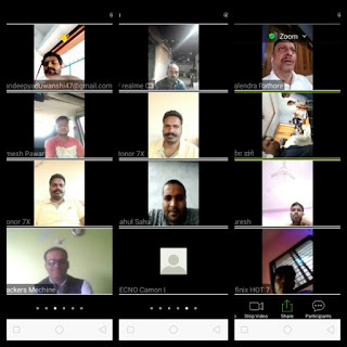 भाजपा खेड़ली मोरखा मंडल प्रभारी गैलेंद्र राठौर ने वीडियो कांफ्रेंसिंग के माध्यम से बैठक ली
