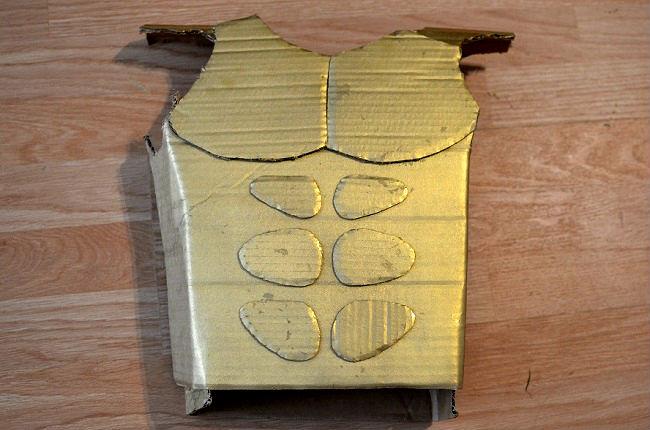 cardboard chest piece