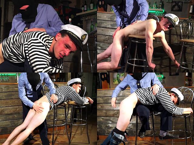 RusStraightGuys - Sailor 18 y.o. – Punishment by policeman of mariner-escort Nikita