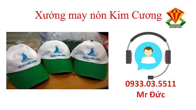 May nón lưỡi trai, nón du lịch số lượng lớn tại Tiền Giang