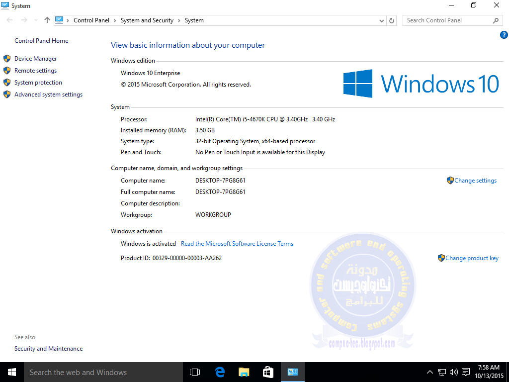 Windows 10 Enterprise X86 Multilanguage Oct 2015