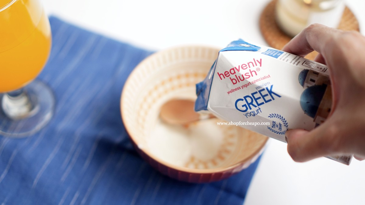 menuang greek yogurt