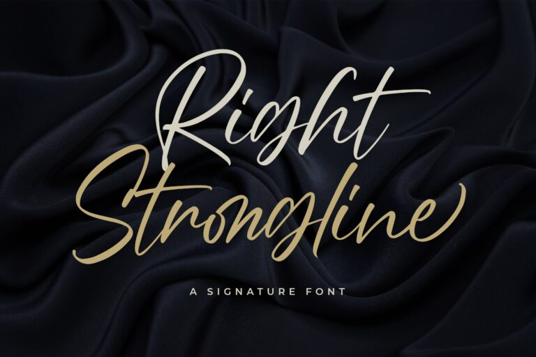 Right Strongline Font - Free Signature Typeface