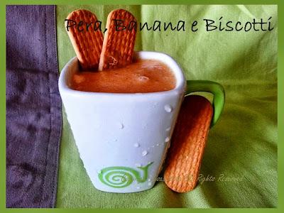 Frullato Pera, Banana e Biscotti