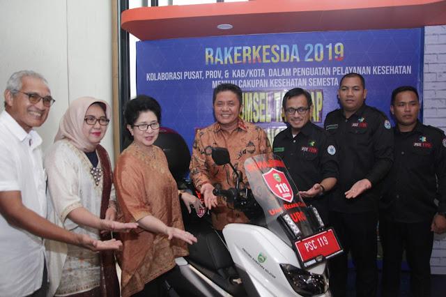Herman Deru Luncurkan Program Satu Kabupaten Satu URC Ambulance Motor 119