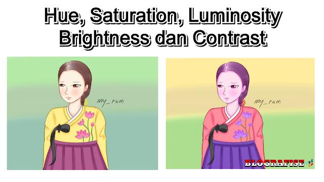 Mengubah Hue, Saturation, Luminosity, Brightness dan Contrast di CSP/Manga Studio