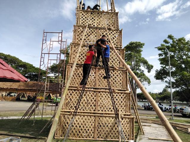 Mendapat Kendala, Satpol-PP Diturunkan Selesaikan Menara Pandang
