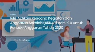 UPDATE Aplikasi RKAS VERSI 2.0 UNTUK PERIODE ANGGARAN TAHUN 2020 telah rilis