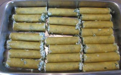 Canneloni épinards-ricotta
