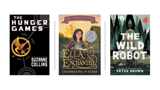 Image of Middle Grade Novels: The Hunger Games, Ella Enchanted, and Wild Robot