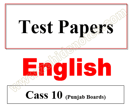10th class english chapter wise tests smart syllabus 2020-21