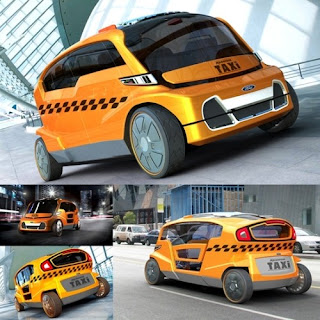 Taxis in Paris - Solar Powered Taxi