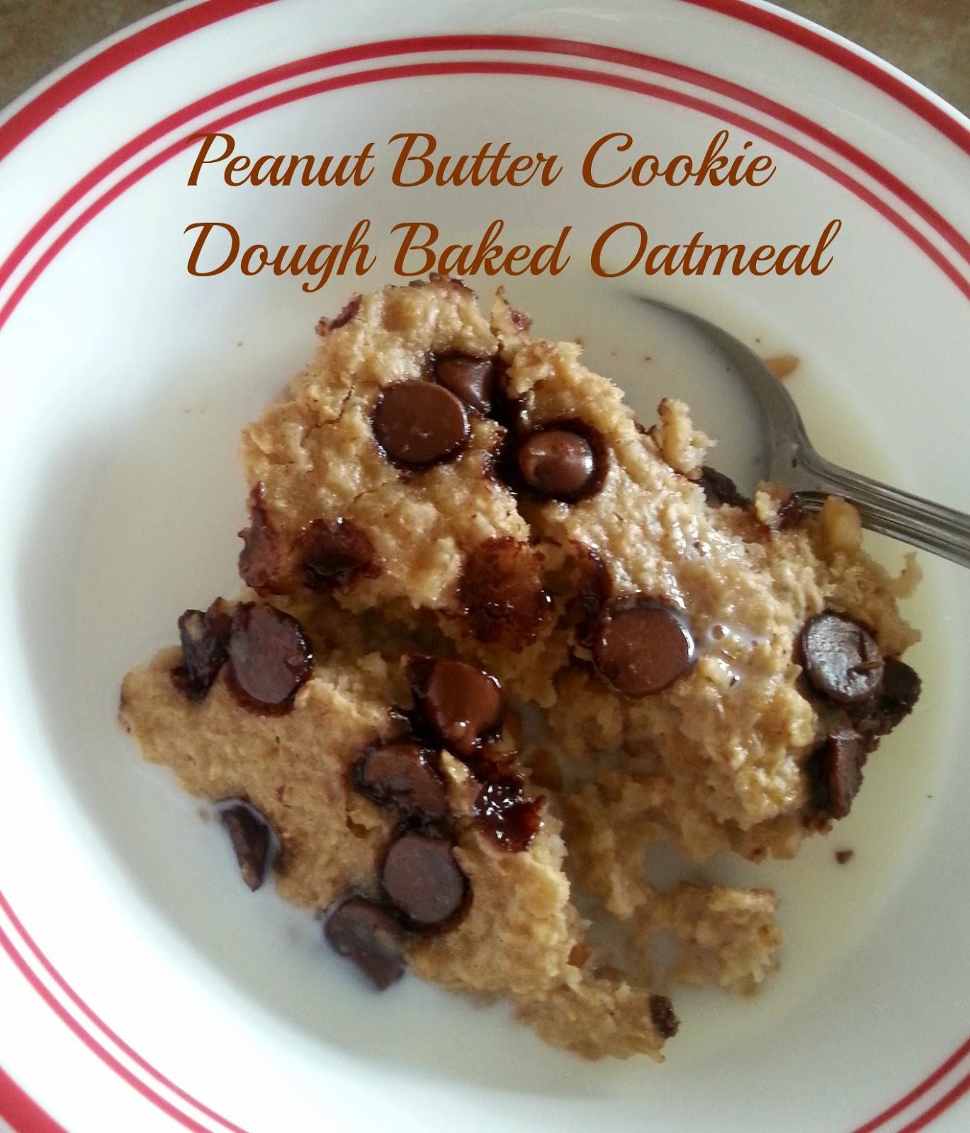 The Better Baker: Peanut Butter Cookie Dough Baked Oatmeal