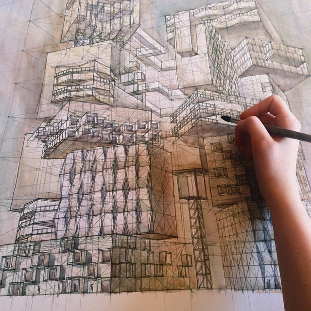 08-Sketch-of-the-Living-Space-Milyausha-Garaeva-Impressive-Detailed-Architectural-Drawings-www-designstack-co