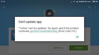 Google Play - Error 110