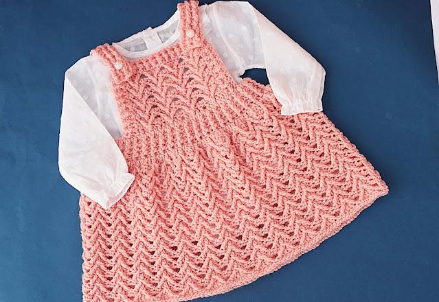 5 - Crochet Imagen Falda con peto a crochet y ganchillo por Majovel Crochet