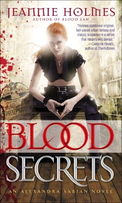 Release Day Review - Blood Secrets by Jeannie Holmes - 4 1/2 Qwills