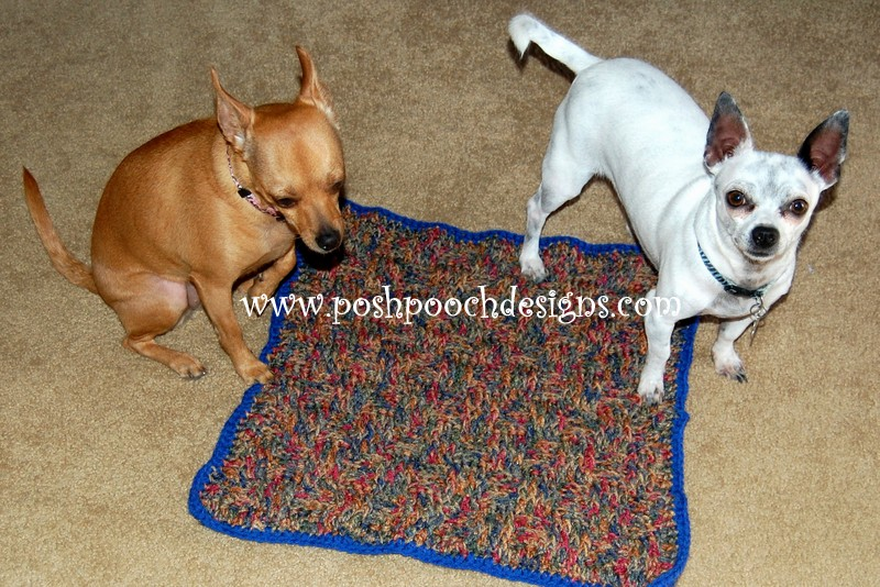 Posh Pooch Designs Dog Clothes Crochet Pattern For A Dog Blanket