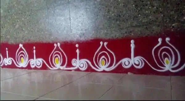 border rangoli to make at walls