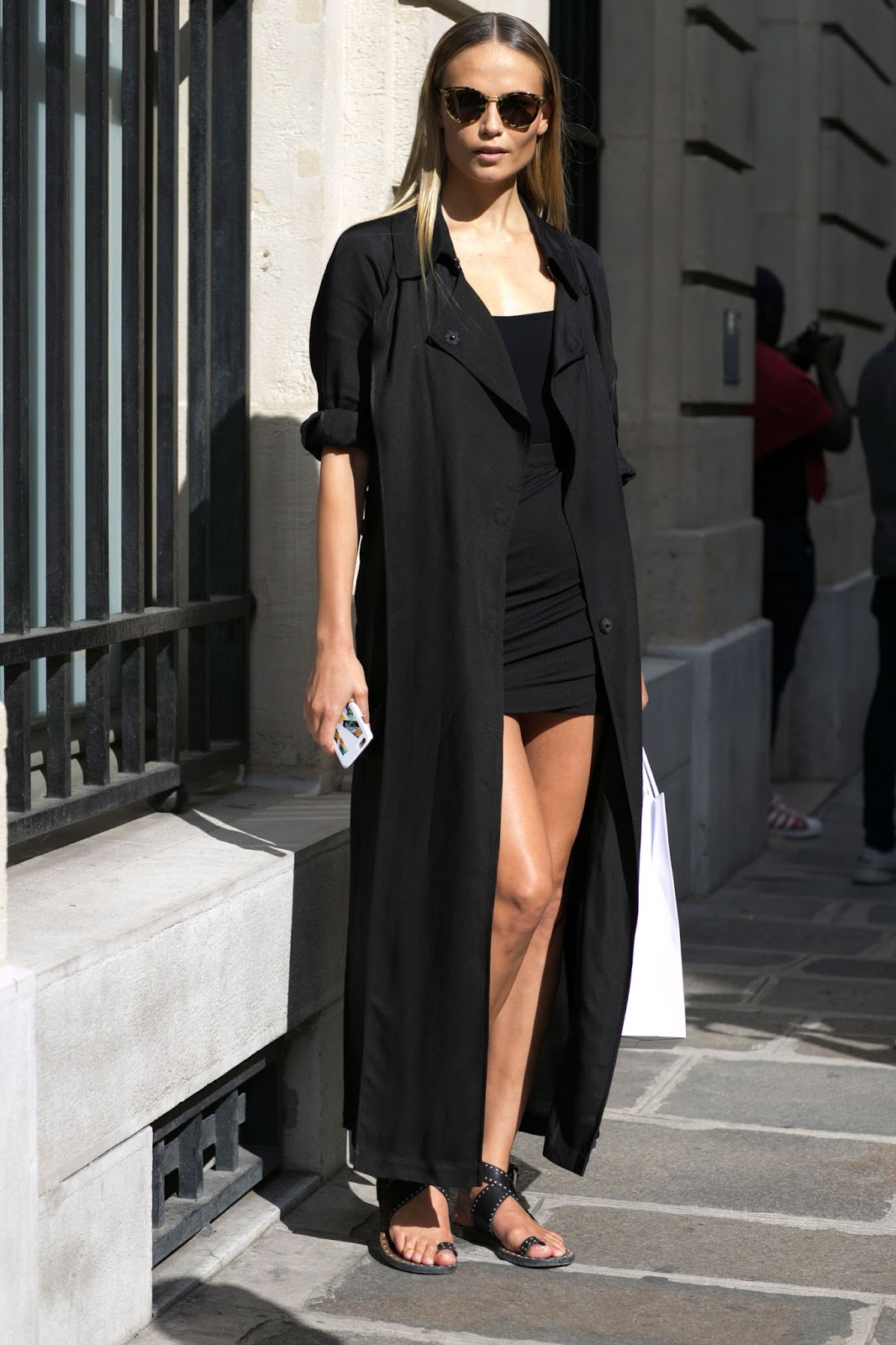 Street Style: Natasha Poly after Balmain Menswear Paris Fashion Week