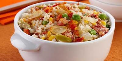 Receita de Farofa de arroz