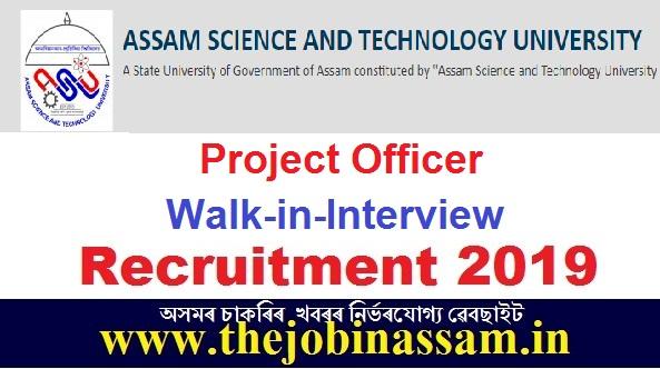 Assam science and Technical University Recruitment 2019