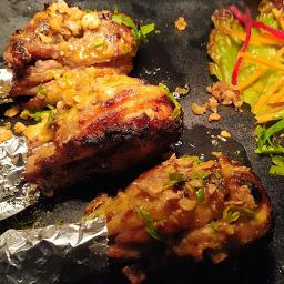 Serving Chicken tangdi kabab