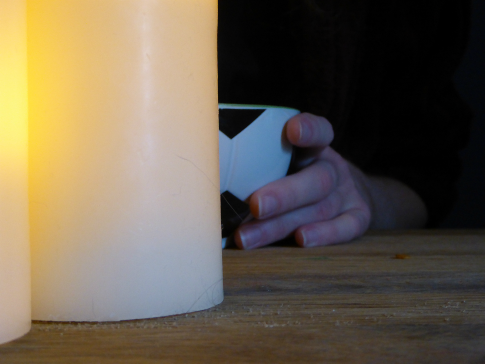 Candles and bowl of porridge