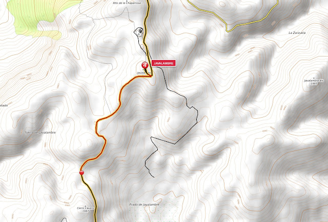 mapa pico javalambre