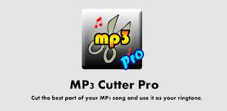 تطبيقات مدفوعة : تطبيق لقص المقاطع الصوتية مدفوع Mp3 Cutter Pro بدون اعلانات