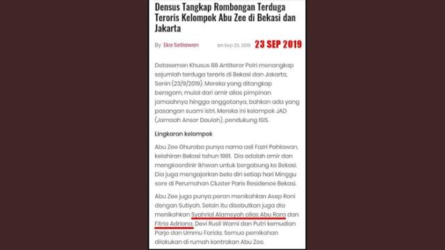 23 September 2019 Polisi Pernah Umumkan Nama Terduga Teroris Penusuk Wiranto, Kenapa Kecolongan?