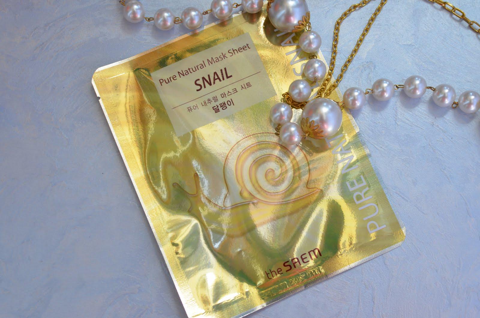 The Saem Pure Natural Mask Sheet Snail Тканевая маска с фильтратом улиточной слизи