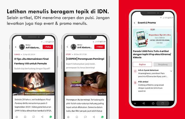 idn app community writer