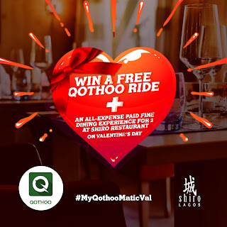 Enter the #MyQothooMaticVal contest to win a beautiful Valentine's day experience for you and your lover