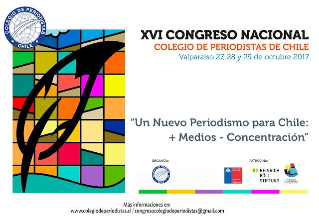 Convocatoria al XVI Congreso Nacional Colegio de Periodistas de Chile