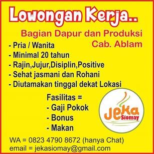 Lowongan Kerja di Jeka Siomay Makassar