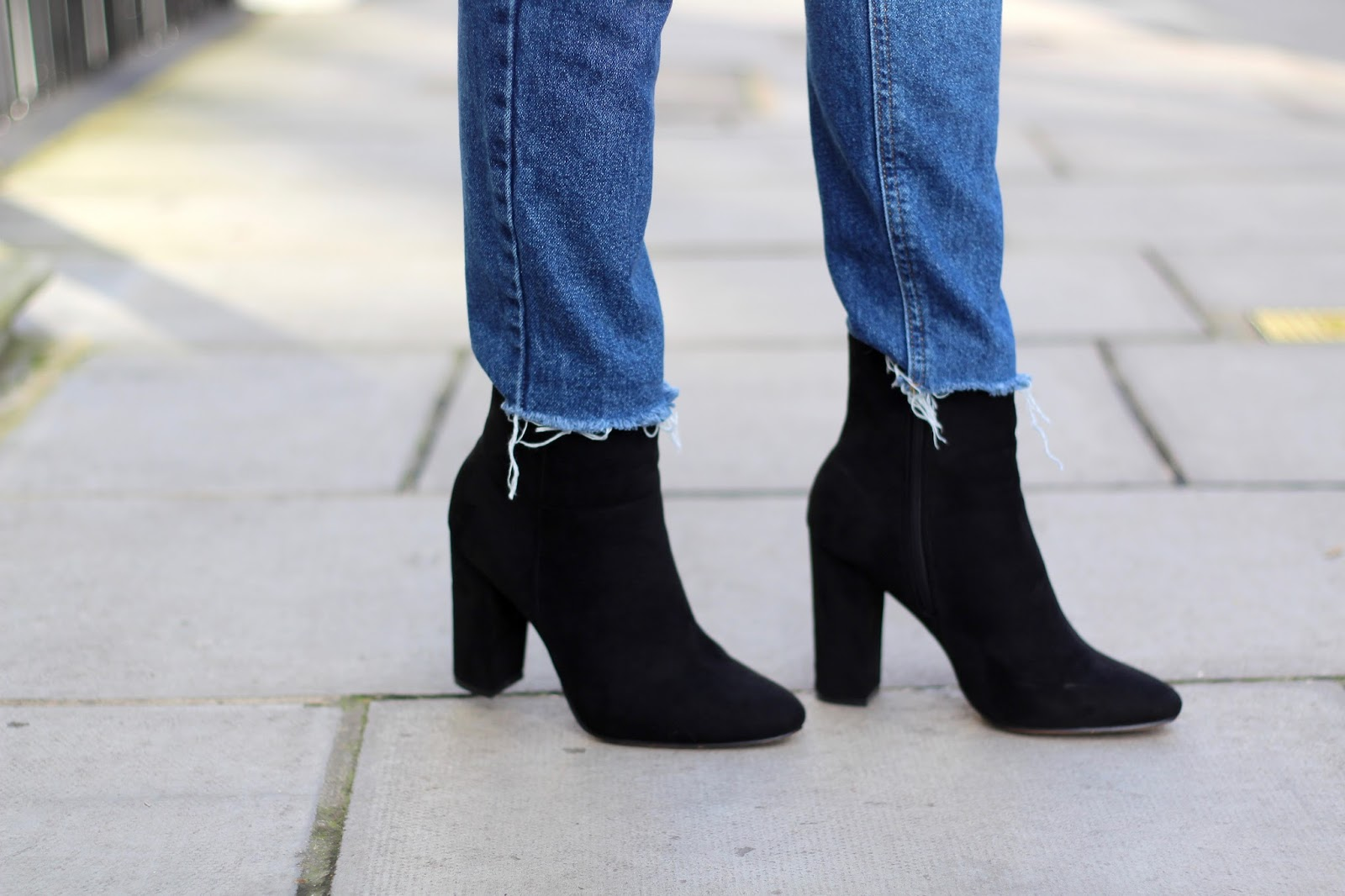 suede black ankle boots peexo blog