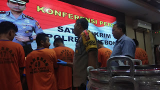 Satreskrim Polres Cirebon Ciduk Maling Spesialis Bobol Gudang