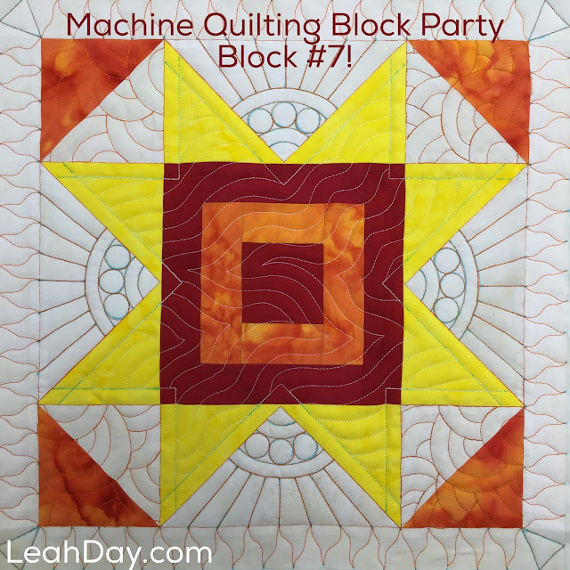 Learn how to quilt this Cabin Fever Block in a free video tutorial with Leah Day