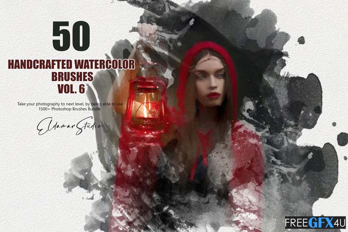 50 Handcrafted Watercolor Brushes Vol 6