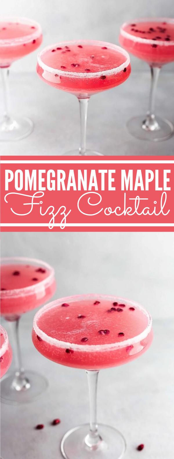 Pomegranate Maple Fizz Cocktail #drinks #vodka